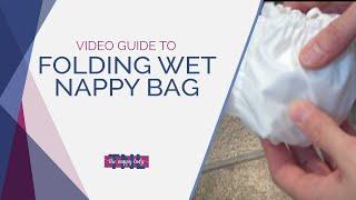 Folding Wet Nappy Bag by The Nappy Lady
