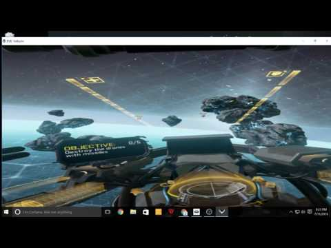 Gameplay of Eve valkyrie for oculus rift