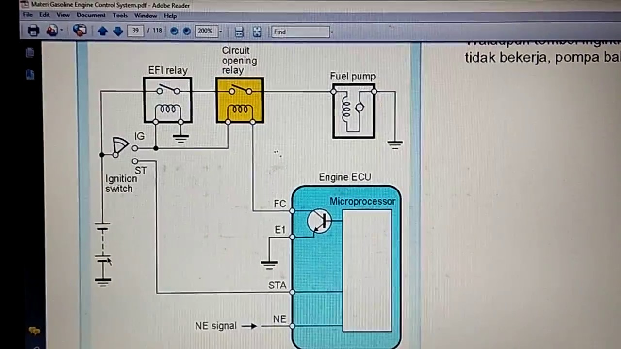 Wiring Dan Cara Kerja Fuel Pump Youtube Diagram Kijang Efi