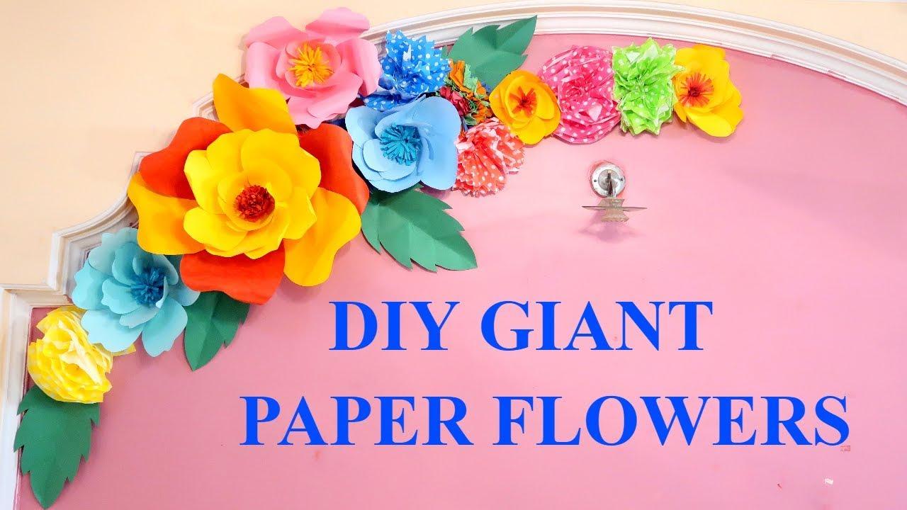 Diy Giant Paper Flower Birthday Decoration Ideas Diy