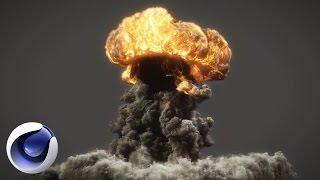 Cinema 4D – Сногcшибательный 3D взрыв в Cinema 4D. [Уроки 3D]