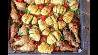 Картошка Гармошкой с курицей в Духовке. Домашний ресторан