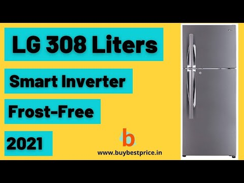 LG 308 Liters Smart Inverter Frost-Free Double Door Refrigerator (GL-T322RPZY, Shiny Steel)