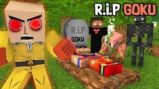 Monster School : RIP Goku with (Fight Saitama)  - Minecraft Animation