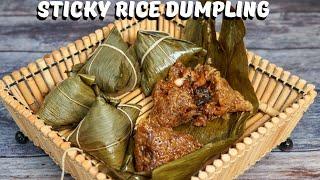 How to make zongzi 做粽子包粽子 Sticky Rice Dumpling   Dragon Boat Festival [中英字幕,右下角点击CC]