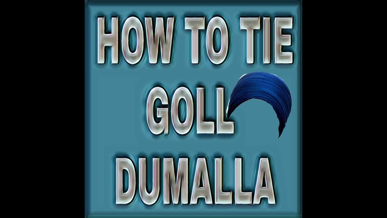 How to tie gol dumallain very easy wayby royal sikh turbans how to tie gol dumallain very easy wayby royal sikh turbans ccuart Image collections