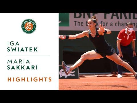 Iga Swiatek vs Maria Sakkari - Quarterfinals Highlights I Roland-Garros 2021