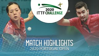 Emmanuel L./Yuan Jia N. vs Tristan F./Laura G. | 2020 ITTF Portugal Open Highlights (Final)