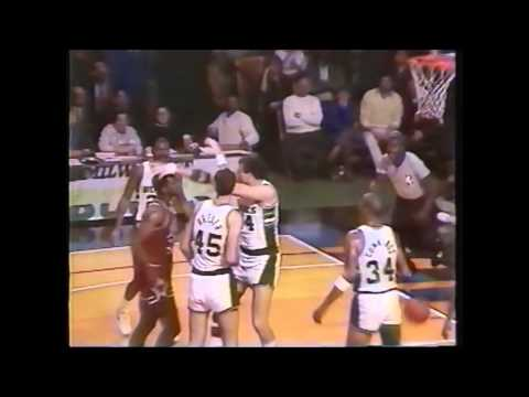 1987 Charles Oakley punches and breaks Paul Mokeski