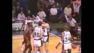 1987 Charles Oakley punches and breaks Paul Mokeski's nose