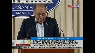 BT: Palasyo: Hindi special non-working holiday sa Sept. 21