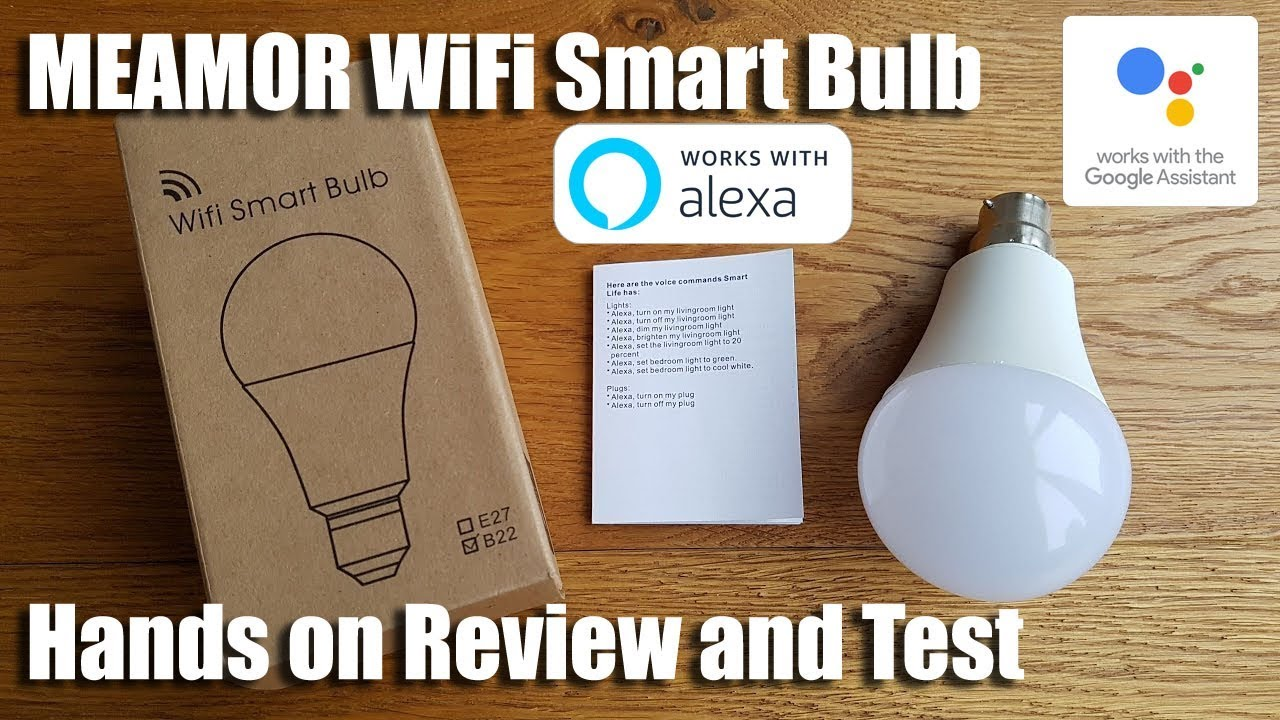 Unboxing and setup of a MEAMOR WiFi Smart Bulb LED Dimmable 7W RGB Bulb  Alexa / Google Home Control
