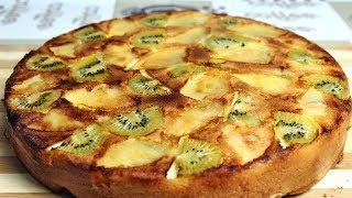 Пирог с яблоками и киви   Шарлотка   Яблочный пирог
