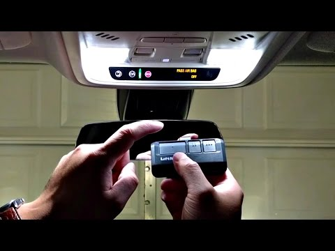 How to Set Up Garage Door Opener With Car (Homelink)