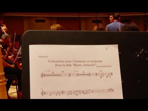 "Recording the original musique for the film ""BRAVO, VIRTUOSO"""