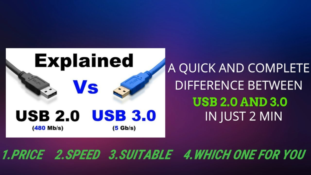 Difference Between Usb 2 0 And 3 0 In Just 2 Min Quick