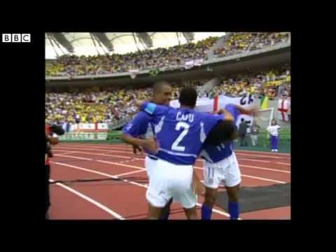 Ronaldinho scores 40-yard free-kick vs England