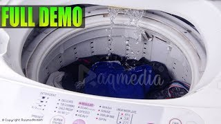 Top Load Fully Automatic Washing Machine Demo ✔️ How To Use Washer And Dryer