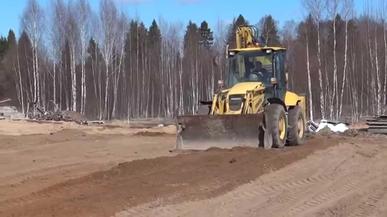 Планировка щебня трактором видео фото 96-608