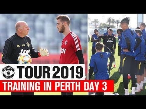 Manchester United | Tour 2019 | Training In Perth Day 3 | James, Dalot, Rashford
