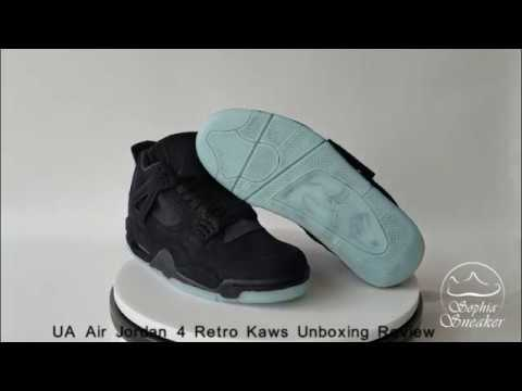 Air Jordan Retro 4 Kaws Noir Unboxing