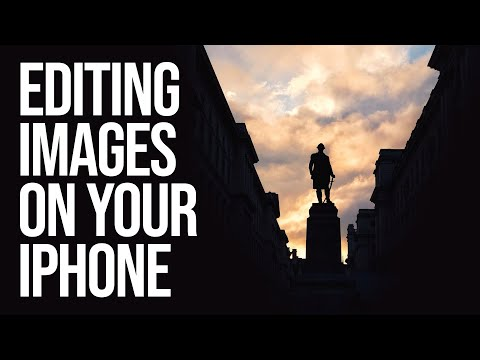 How to edit photos on the iPhone: Sunset