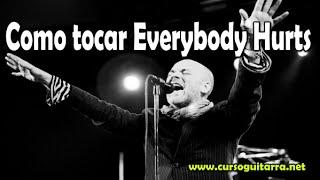 Canciones fáciles en guitarra -  Everybody Hurts - REM