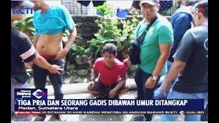 Gerebek Kampung Narkoba, 3 Pria dan Gadis di Bawah Umur Ditangkap - SIM 22/07