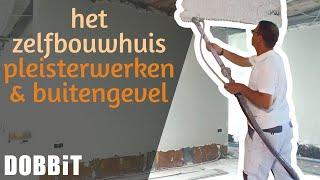 Het Zelfbouwhuis - Pleisterwerken en afwerking van de buitengevel