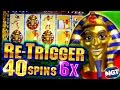40 Free Spins On Pharaoh S Fortune Retrigger BIG WIN 5c Video Slots mp3