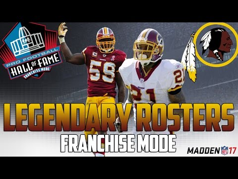 Legendary Washington Redskins Roster | Madden 17 Connected Franchise | Sean Taylor + John Riggins