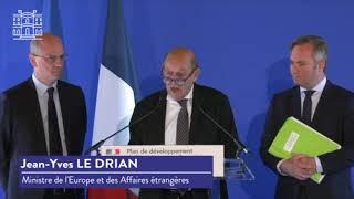 Discours de Jean-Yves Le Drian lors des annonces sur le plan de développement de l'EFE