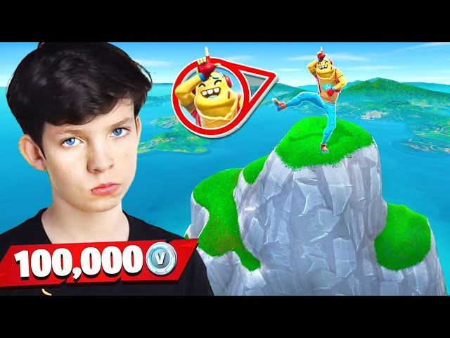 My Little Brother Gets 100k VBucks if he Wins! (Fortnite King of the Hill)