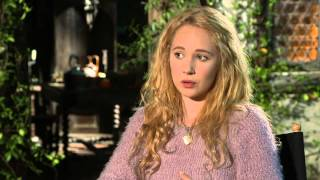 "Maleficent: Juno Temple ""Thistlewit"" On Set Movie Interview"
