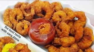 زنجر روبيان بسر القرمشه واللذاذه وتحدى لكل مطاعم كنتاكى   zinger shrimp(أحلى طريقة للجمبرى )