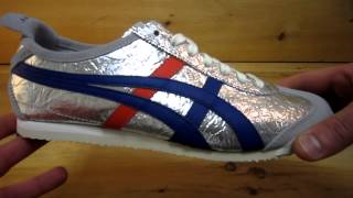 Onitsuka Tiger Mexico 66 Leather Shoes Silver