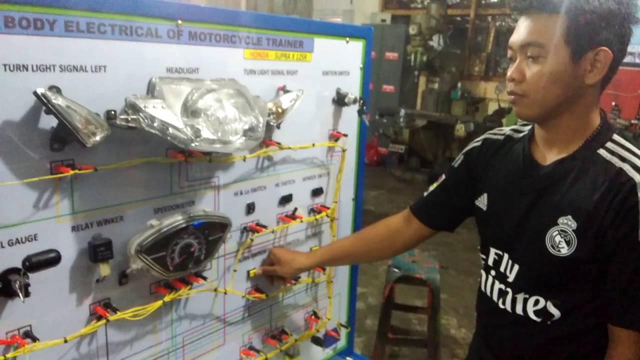 Sistem Kelistrikan Motor Supra X 125