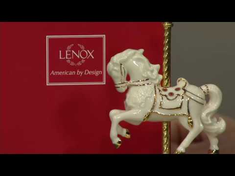 Lenox Porcelain Musical Figurine with Crystals & 24K Gold Accents on QVC