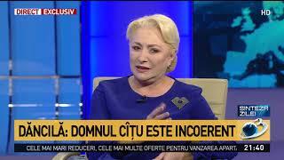 """Viorica Dăncilă îi recomandă lui Florin Cîțu să nu se mai comporte ca la grădiniță: """"Îl"""