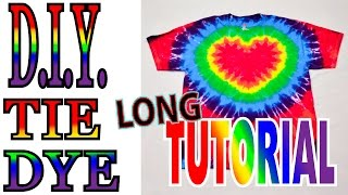 DIY Tie Dye Rainbow Heart shirt [Long Tutorial] #31