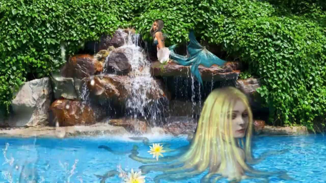 """Очень красивый футаж """"Дельфин и Русалка"""" - YouTube"""