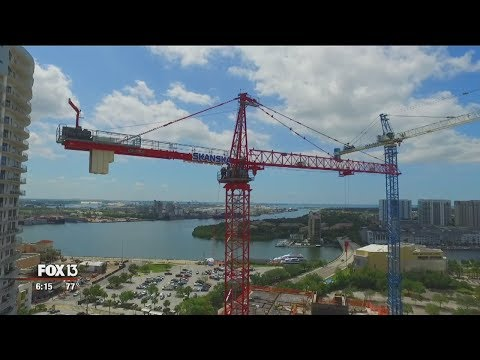 High-stakes crane-rescue training, high above Tampa