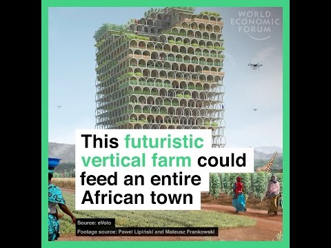 This futuristic vertical farm could feed an entire African town