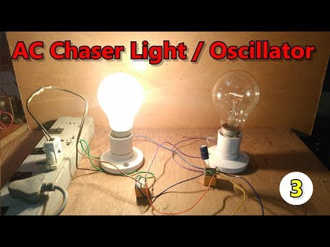 Diy Without Ic Ac Chaser Flasher Oscillator Blinking Two Lights Using Two 12v Dc Relays Youtube