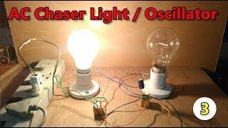 DIY| sans IC | AC chaser/flasheur/oscillateur/clignote deux Feux à l'aide de Deux 12v DC relais
