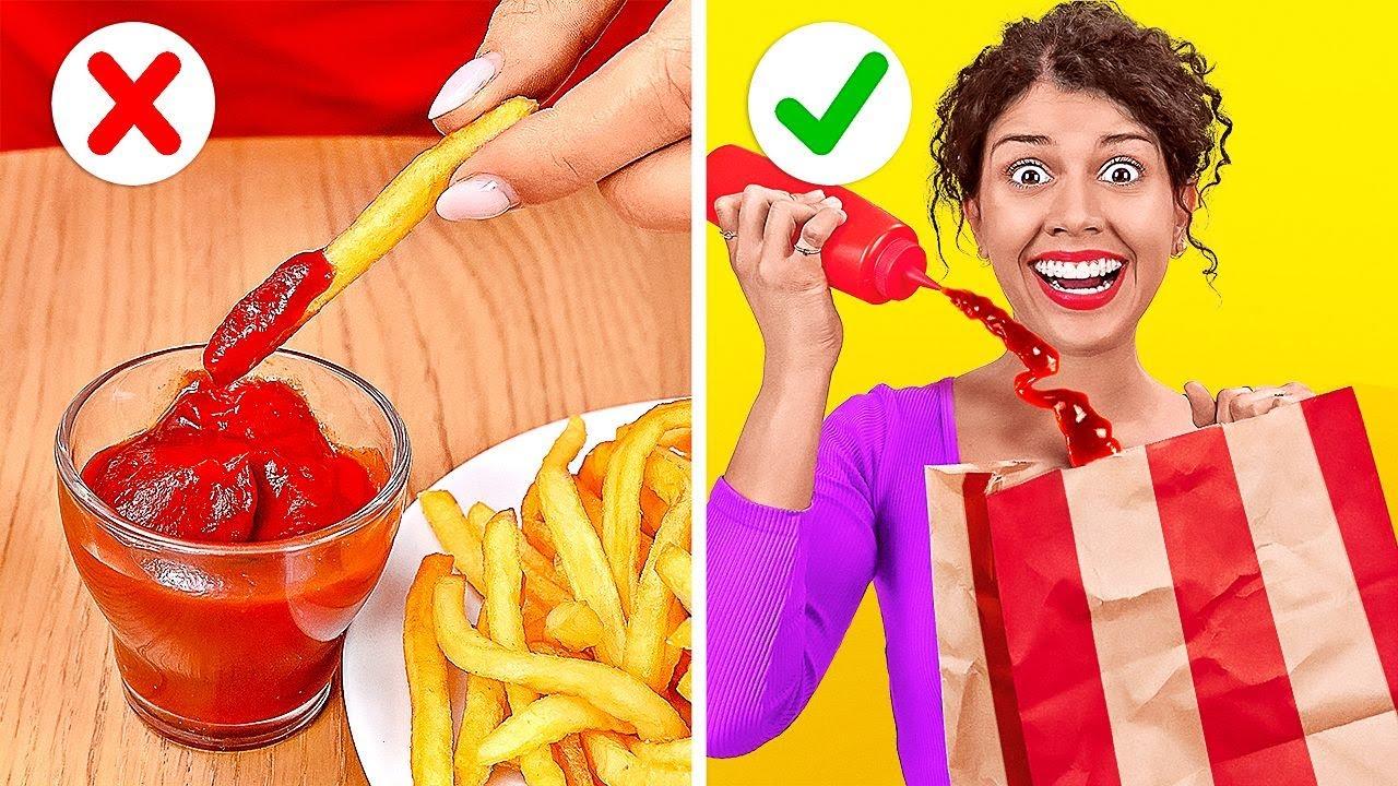DICAS INTELIGENTES DE FAST FOOD    Ideias legais de comida que encontramos no Tik Tok por 123 GO!