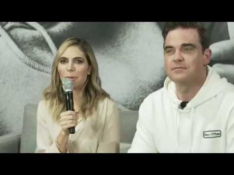 Robbie Williams & Ayda Field  Marc O'Polo Facebook Live 6th July, 2017