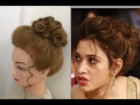 Beautiful Hairstyles with puff: Easy Party Hairstyles