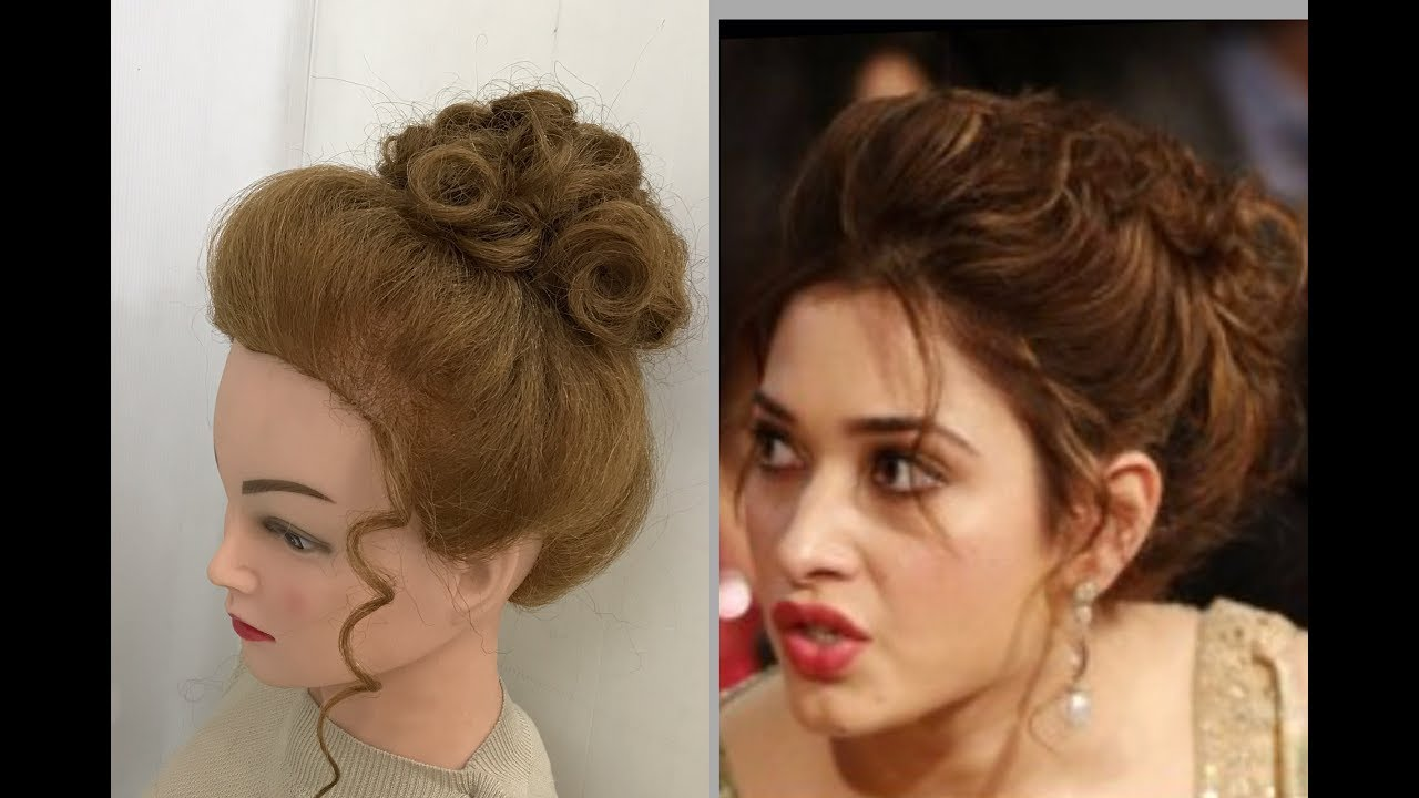 beautiful hairstyles with puff