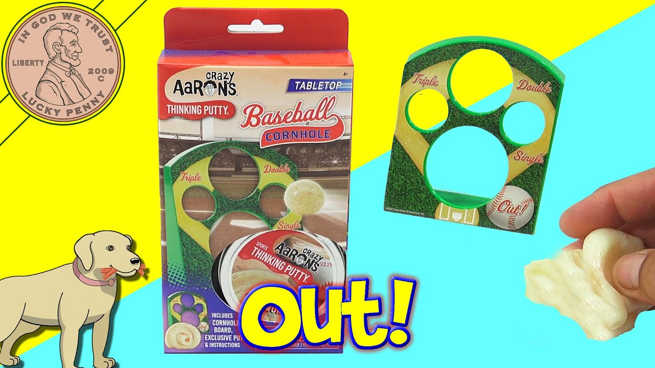 Crazy Aaron's Tabletop Corn Hole Sports Thinking Putty